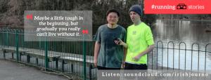 interviewing a runner at South Manchester parkrun
